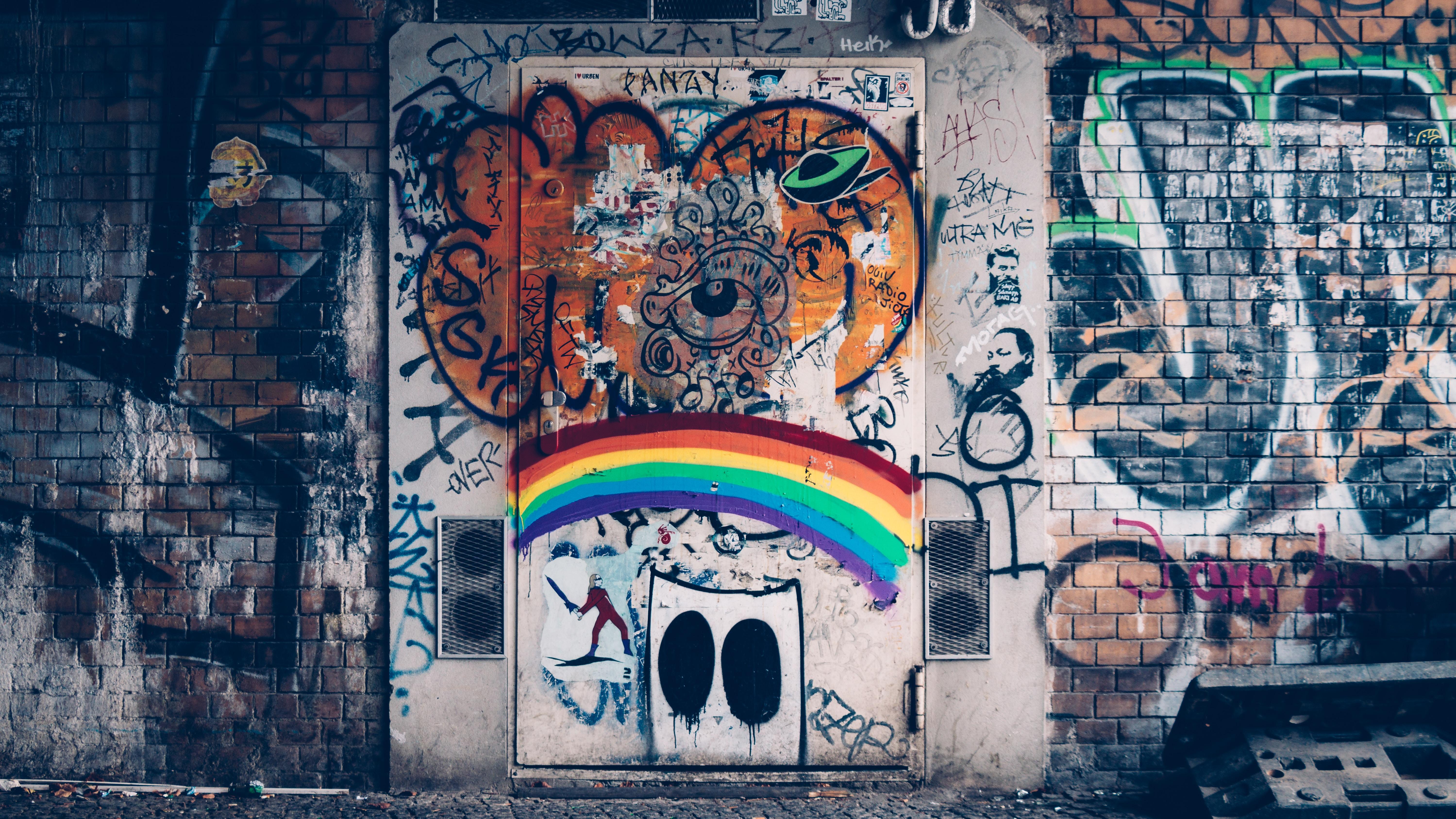 graffiti wall view