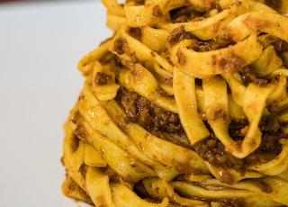 pesto pasta with ground meat