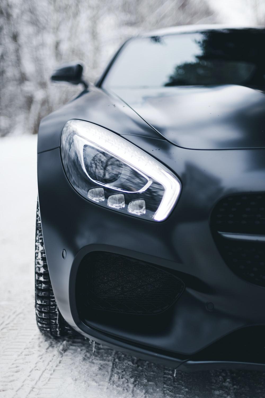black vehicle close-up photo