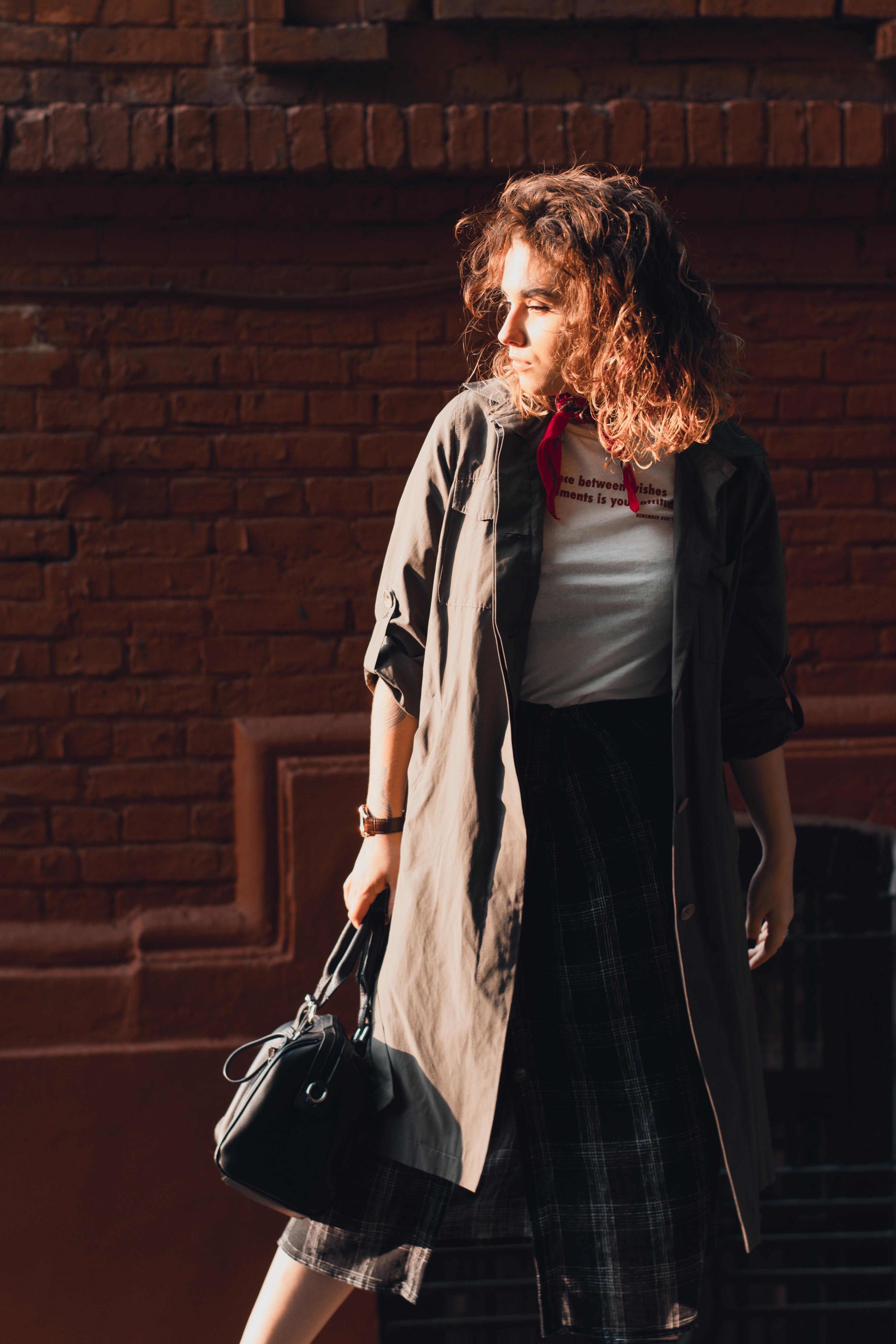 women's black and white long sleeve dress