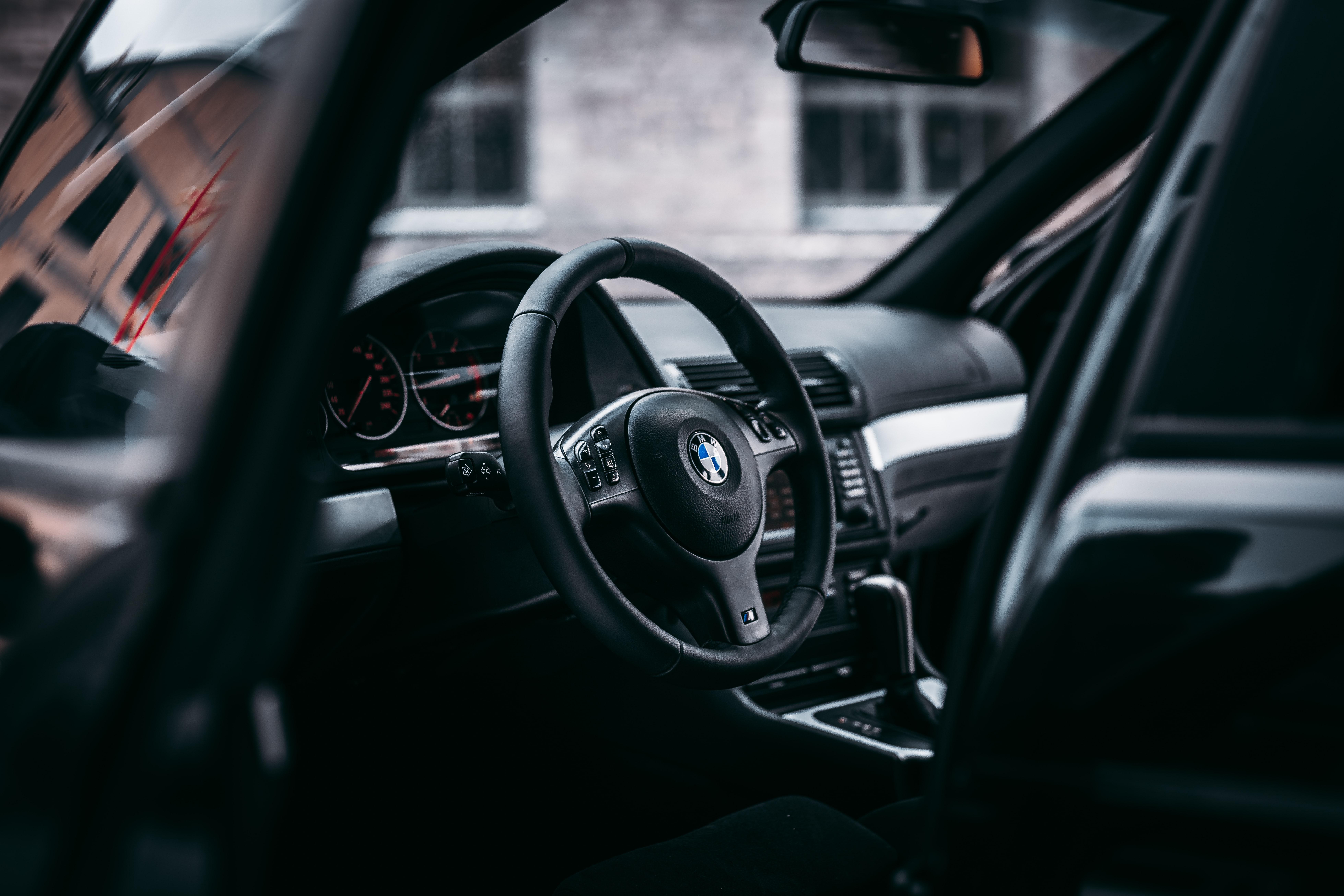 black and gray Volkswagen car interior