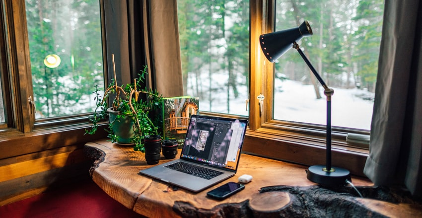 home office setup for speaking with online psychologist