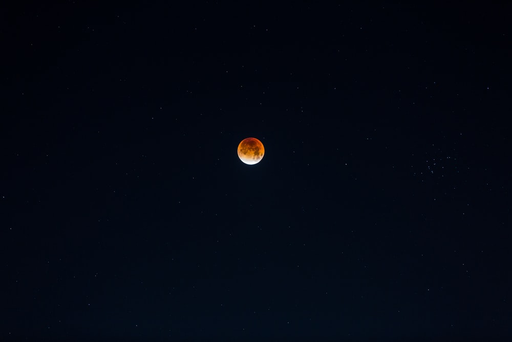 view of red moon