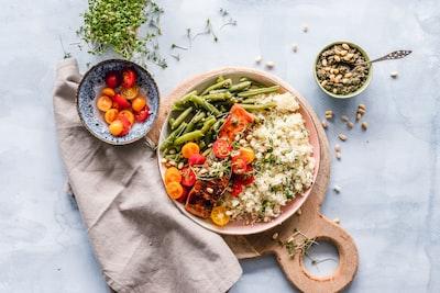 vegetable salad healthy food teams background