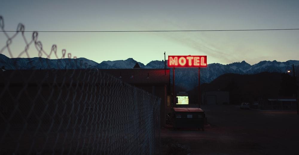 Motel LED light signage