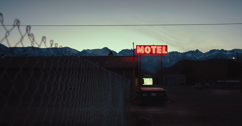 Motel LED light signage