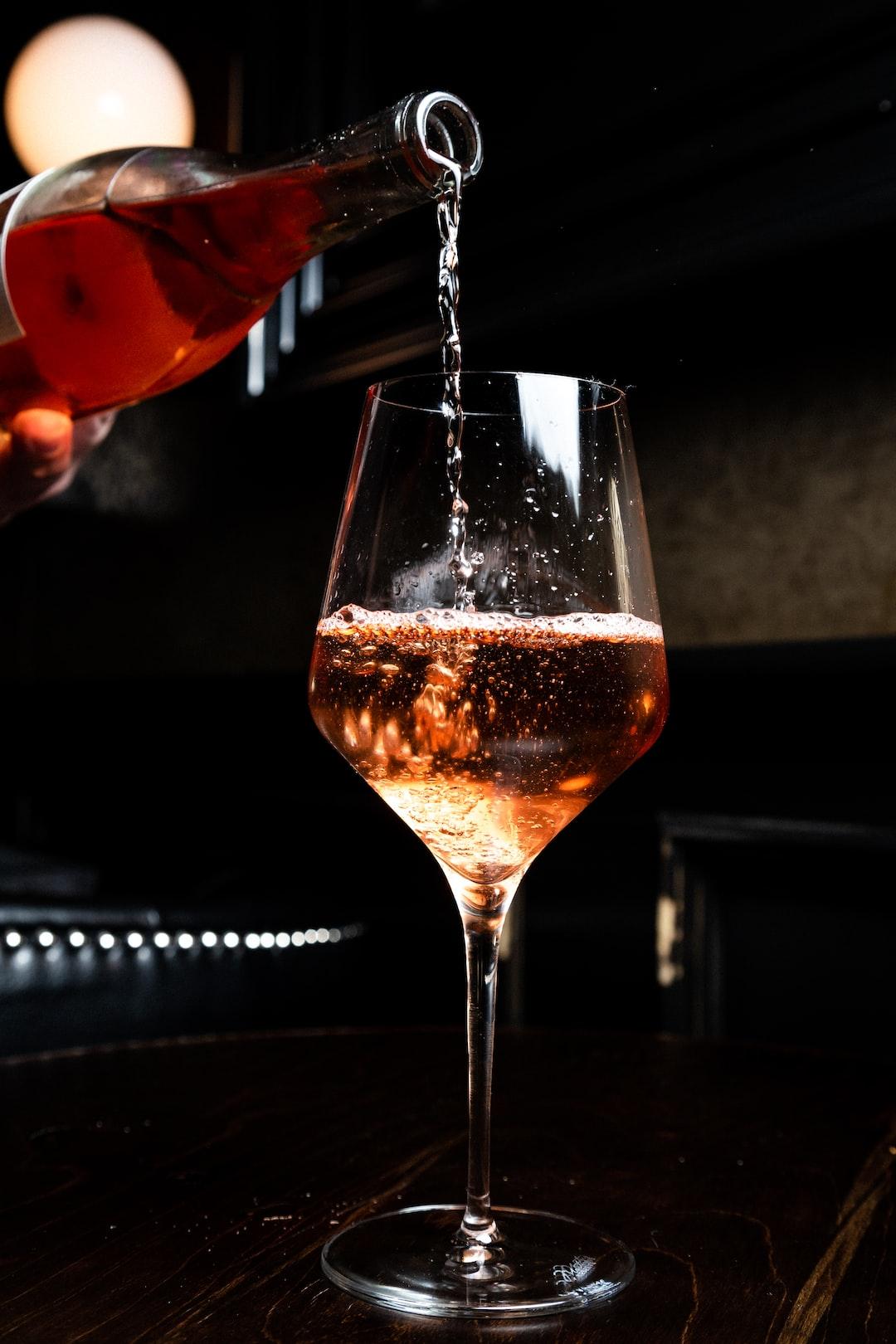 Enjoying a nice glass of bubbly