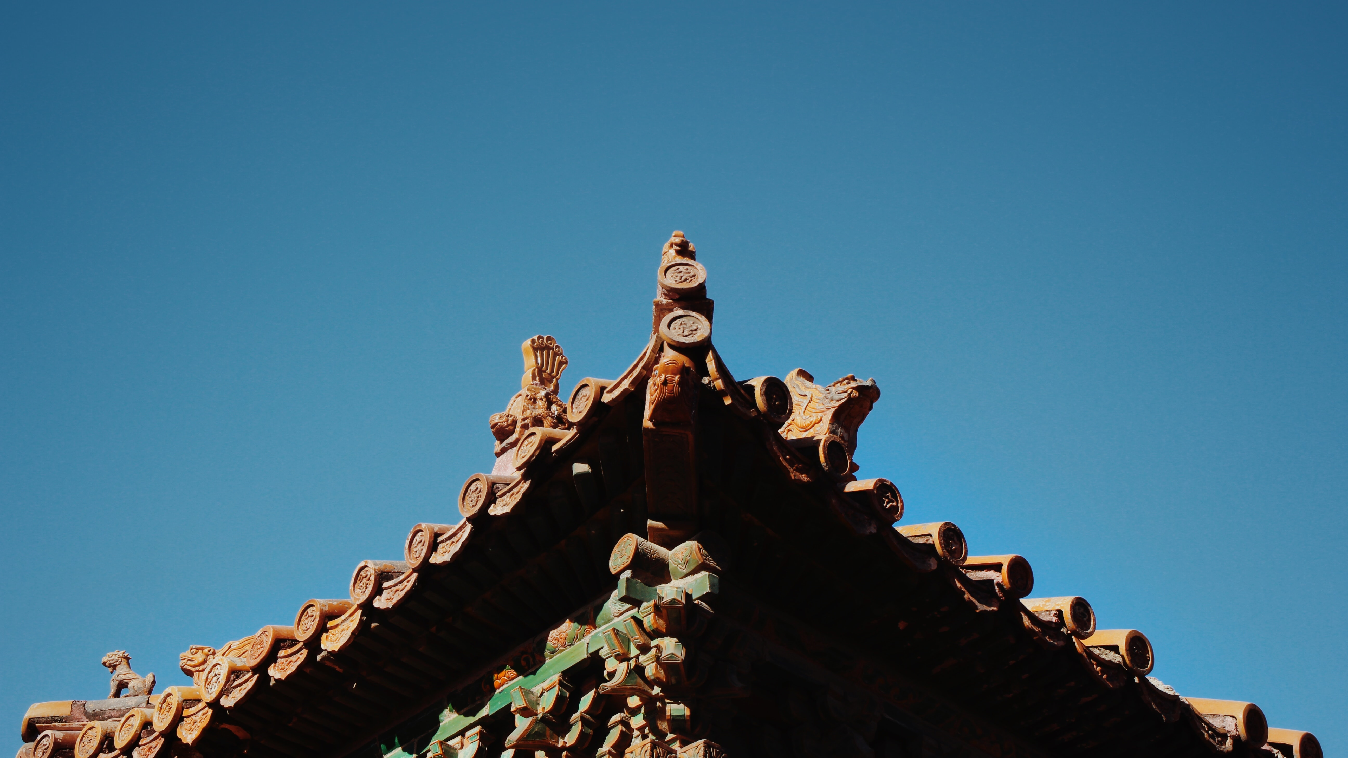 brown roof close-up phot