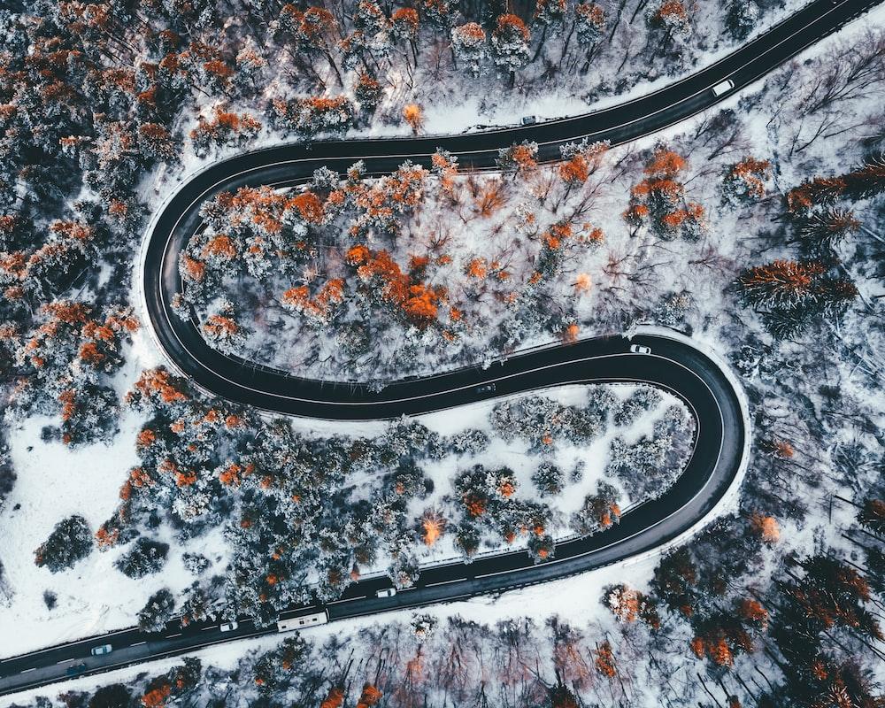 black roadway
