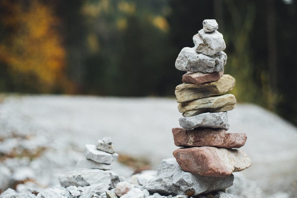 piled stones