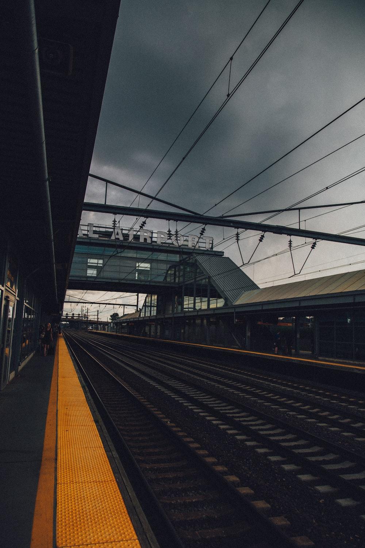 train tracks during daytime