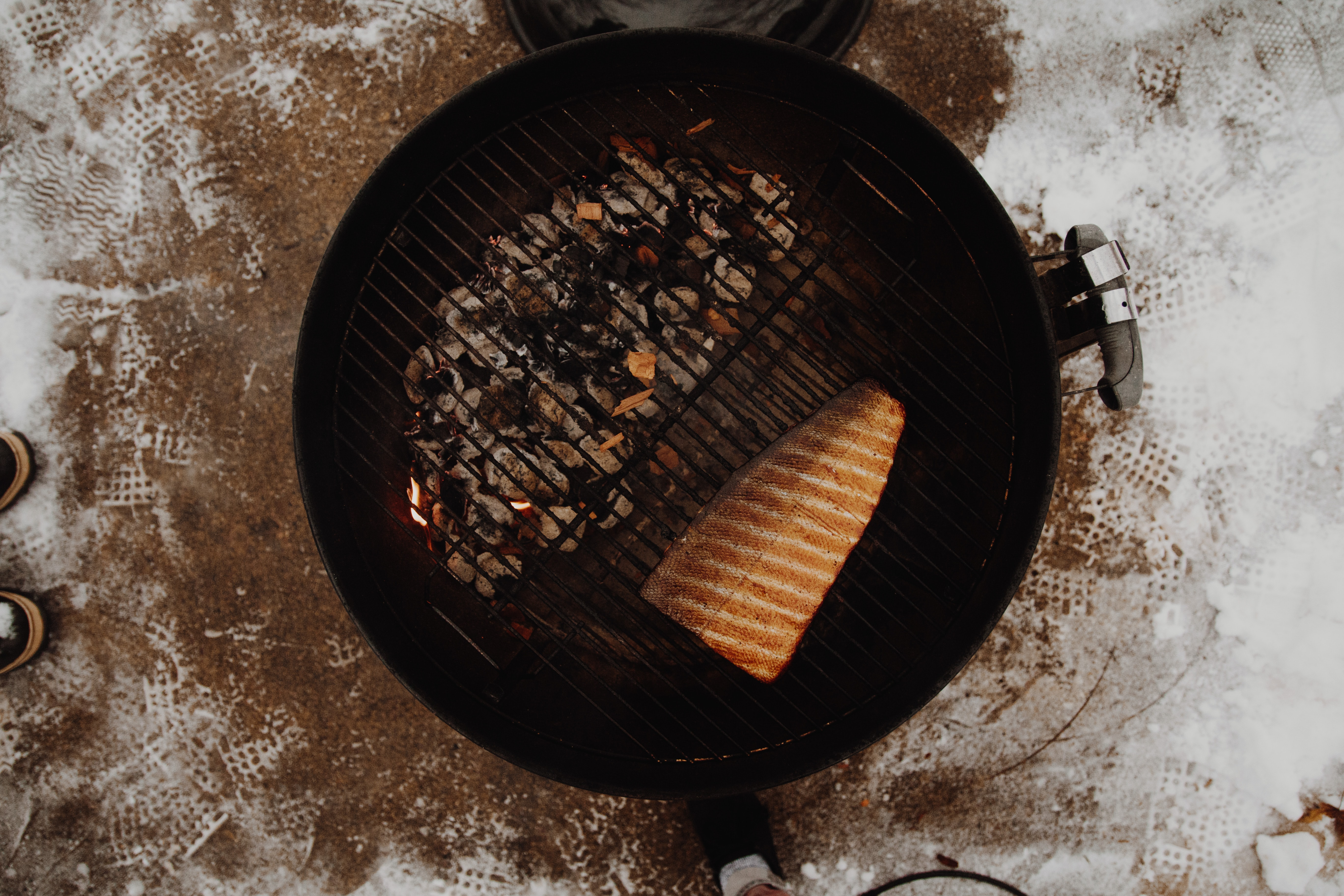 grilled meat on griller