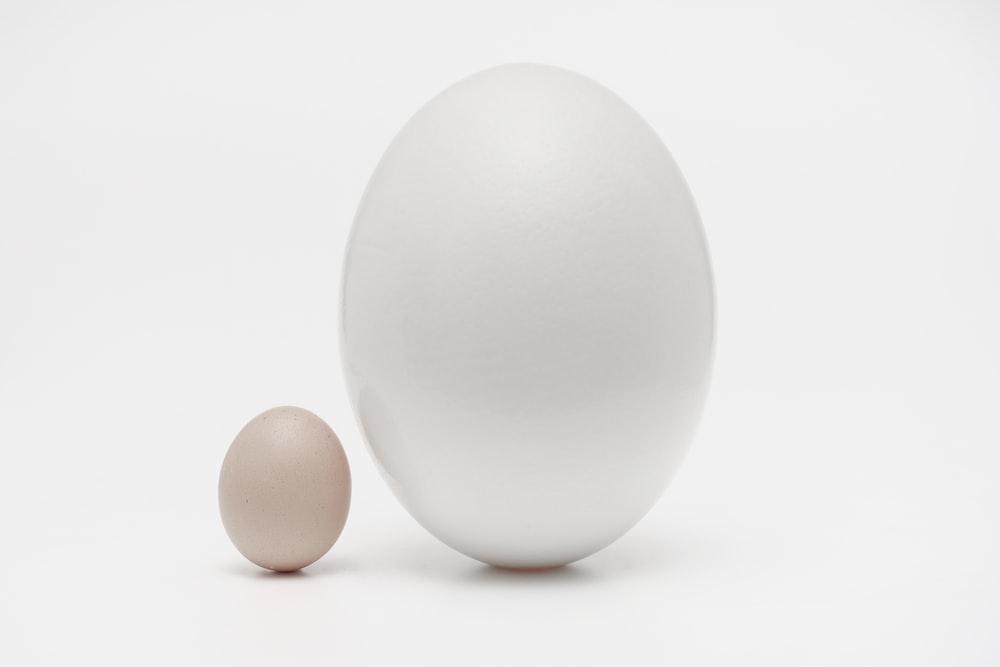 two organic eggs