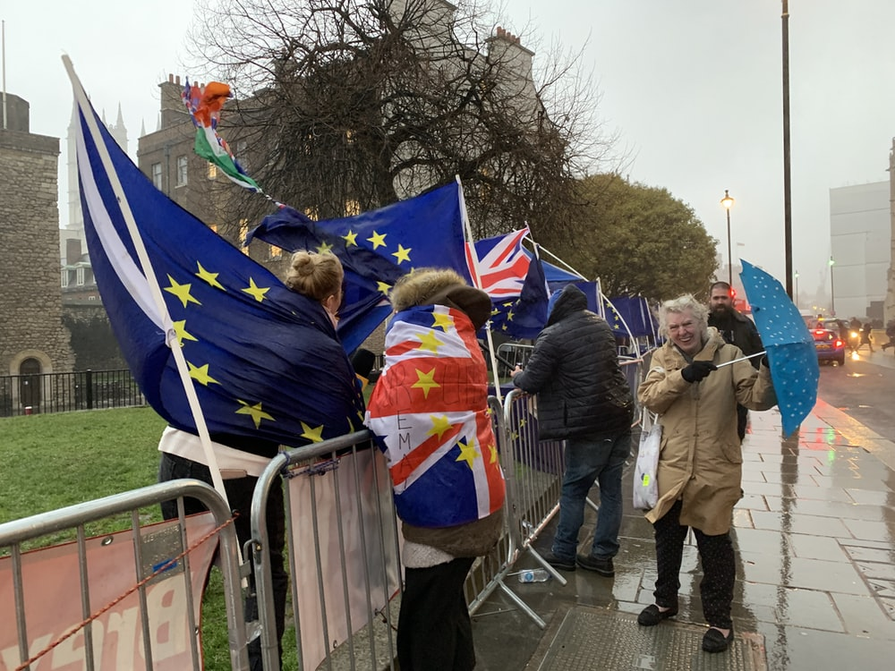 people holding flags