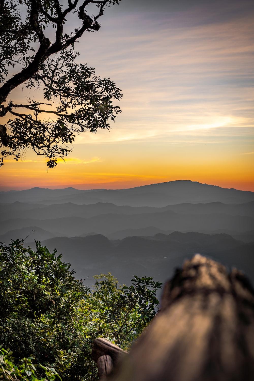 high-angle photography of mountain range