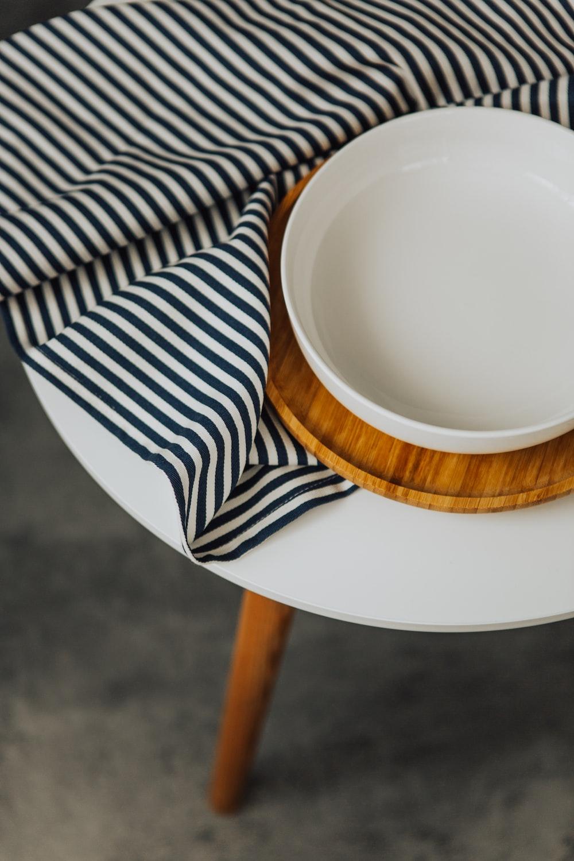 round white plastic tray