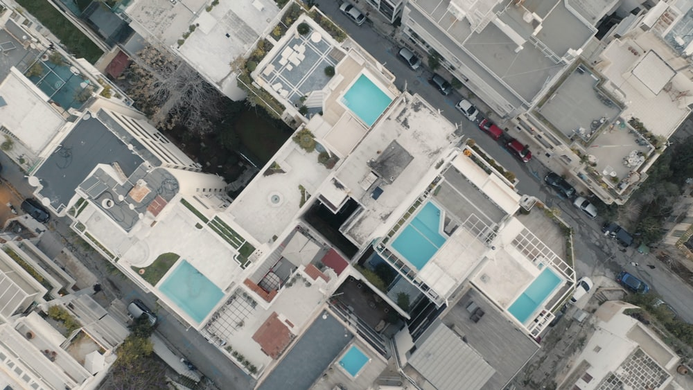 top view of buildings on daytime