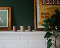 assorted-colored ceramic pots