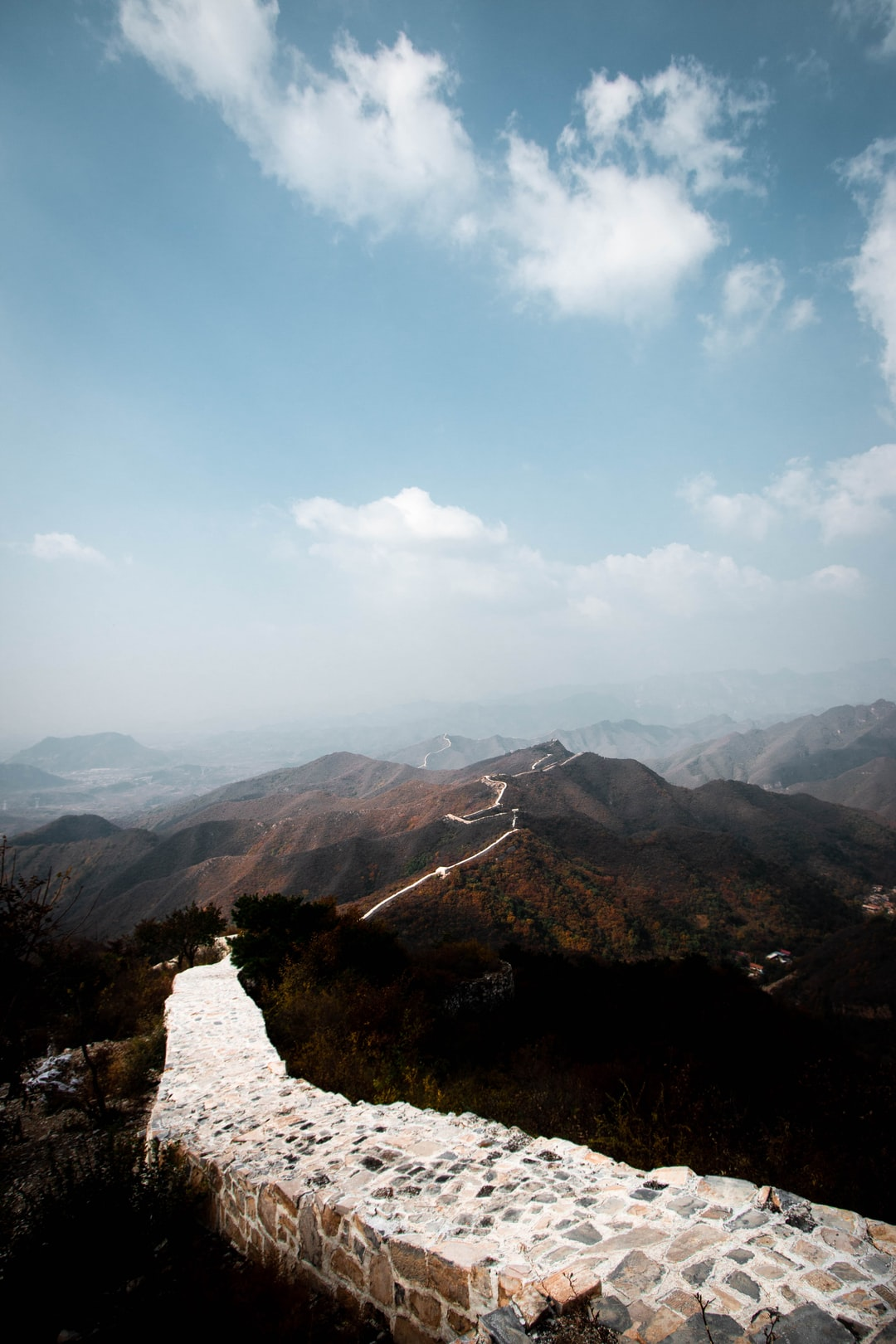 This was a shot I got on my recent trip to China. I did a charity trek with the Mental Health Foundation and walked both the older and newer parts of the wall. This was the newer 17th century part of the Great Wall of China, which runs all the way to Beijing.