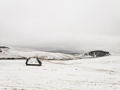 brown cabin and snow during daytime serbia zoom background