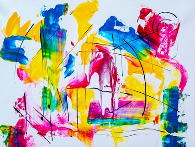 assorted-color paint strokes artwork art zoom background