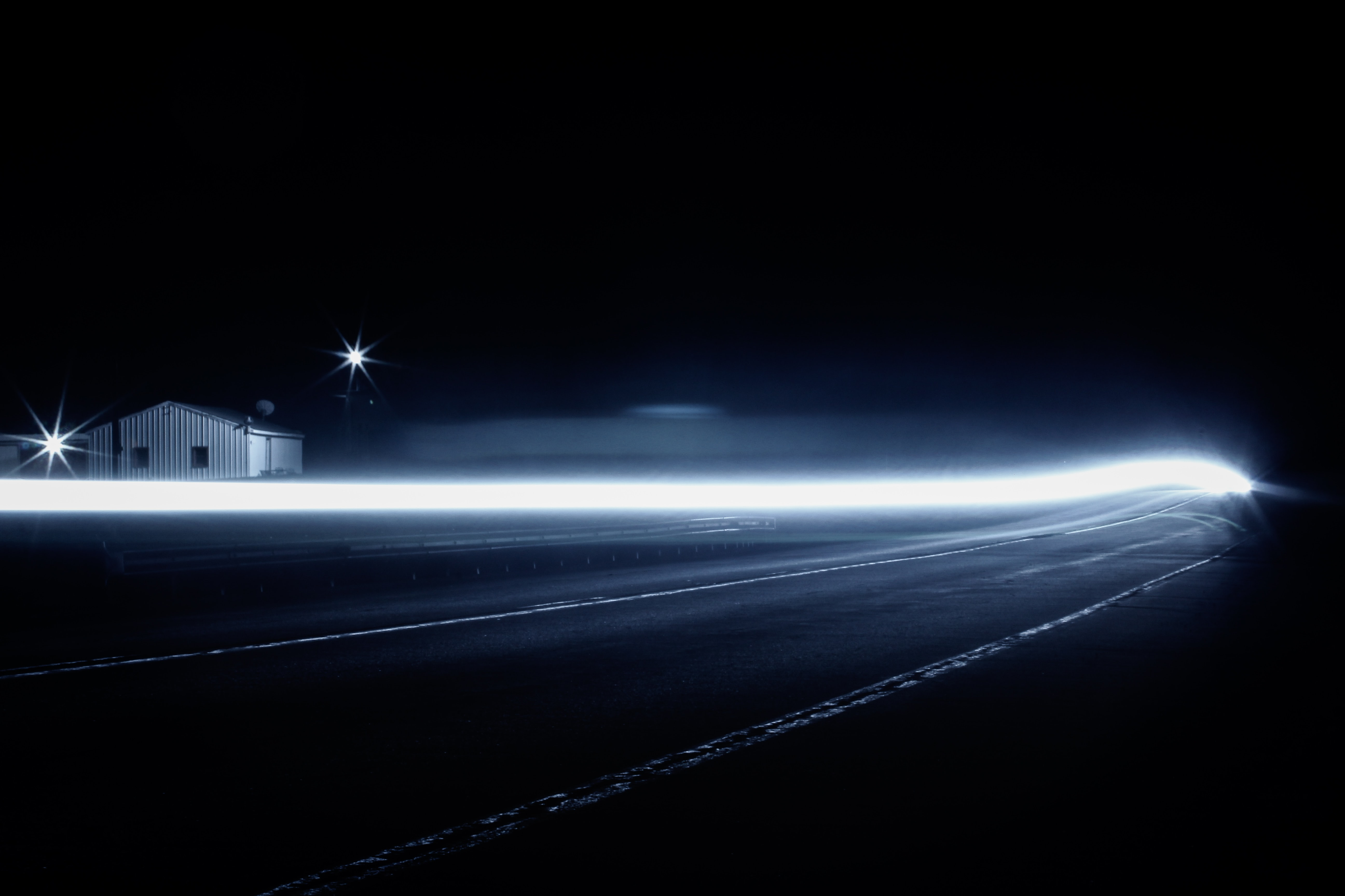 long exposure photography of road path
