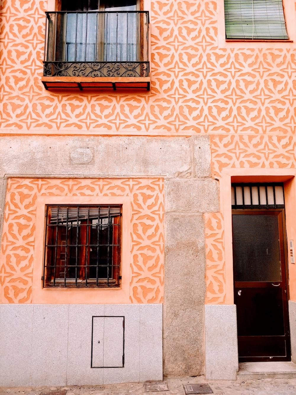 closed door and window house