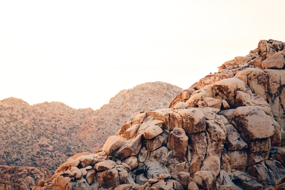 landscape photography of brown and black mountain peak