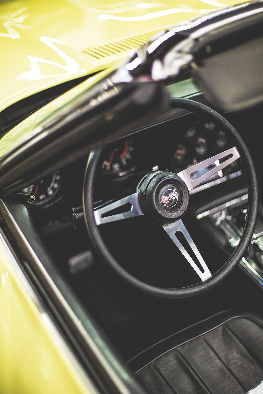 view of manual steering wheel