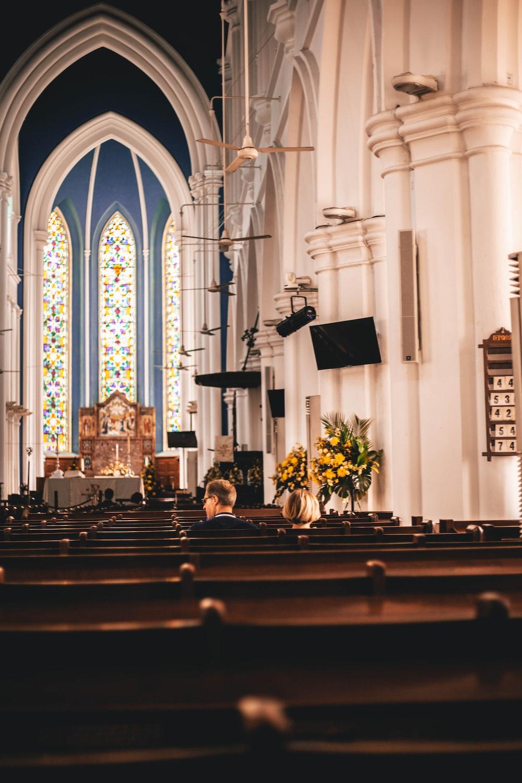 couple inside church