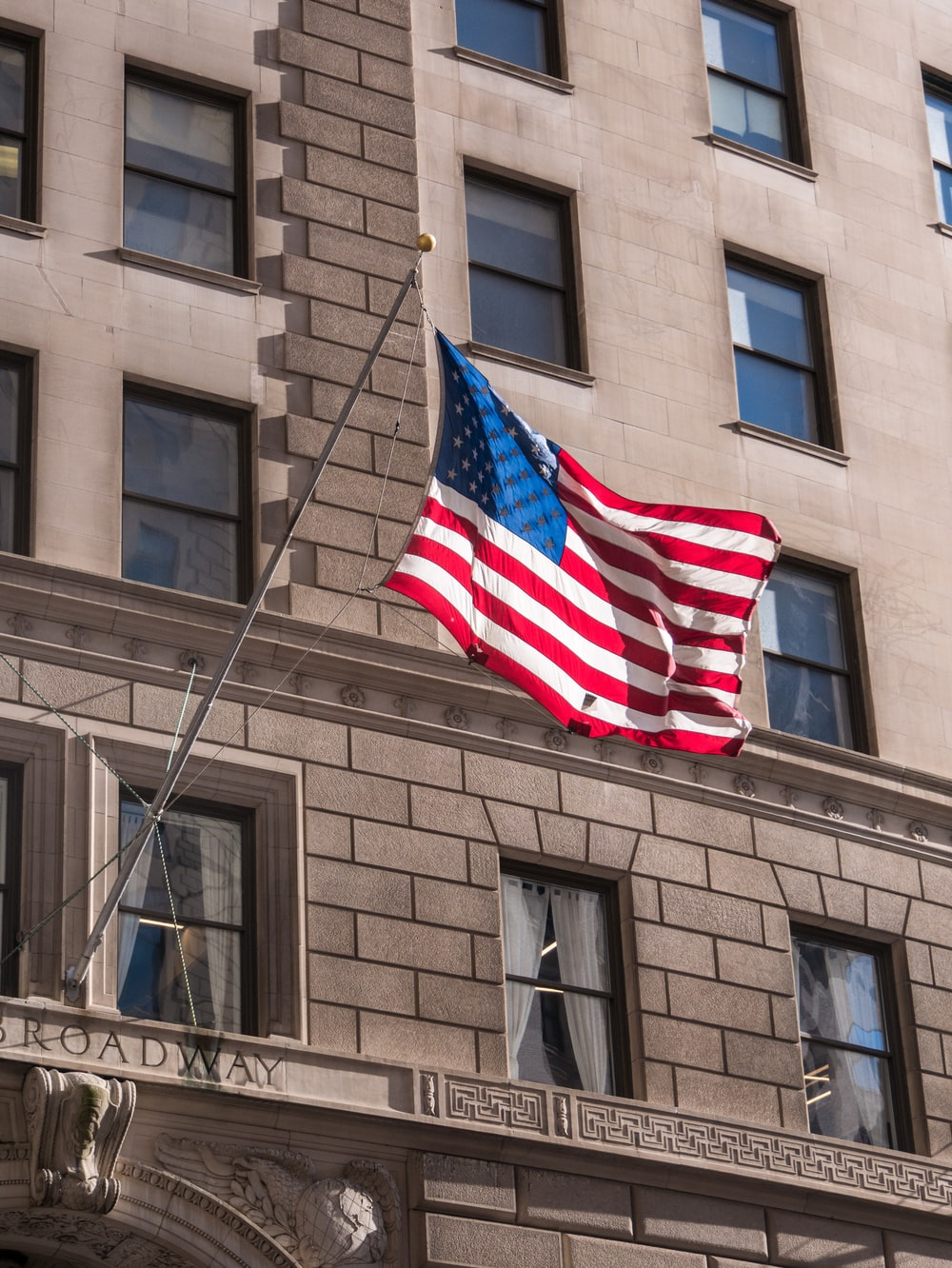 American flag outdoor during daytime