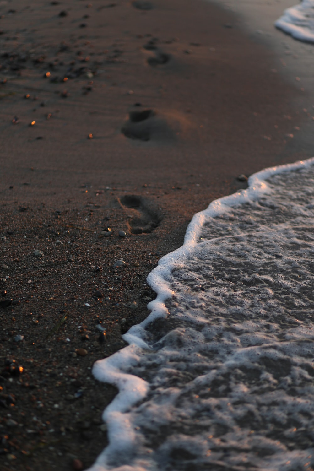 seawater on shore