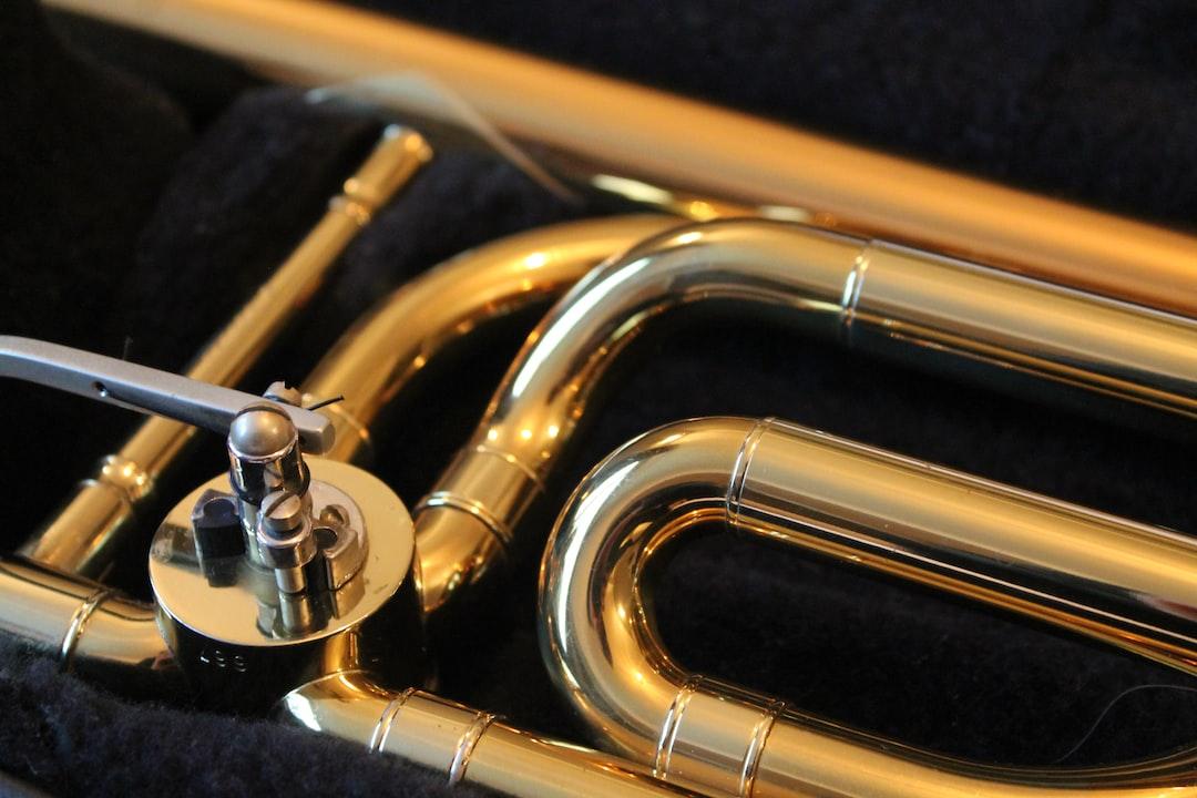 Trombone in its case