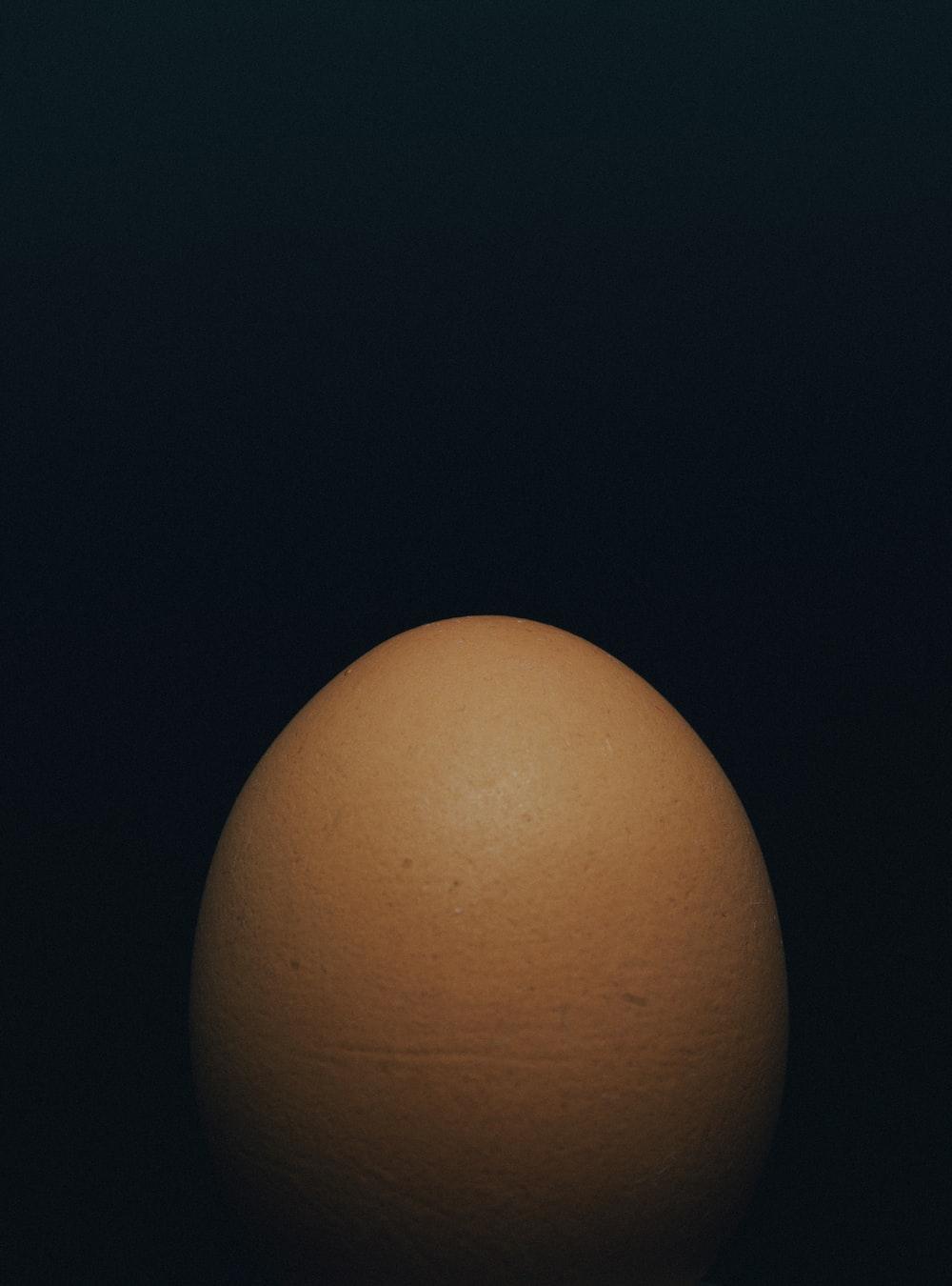 brown egg decor