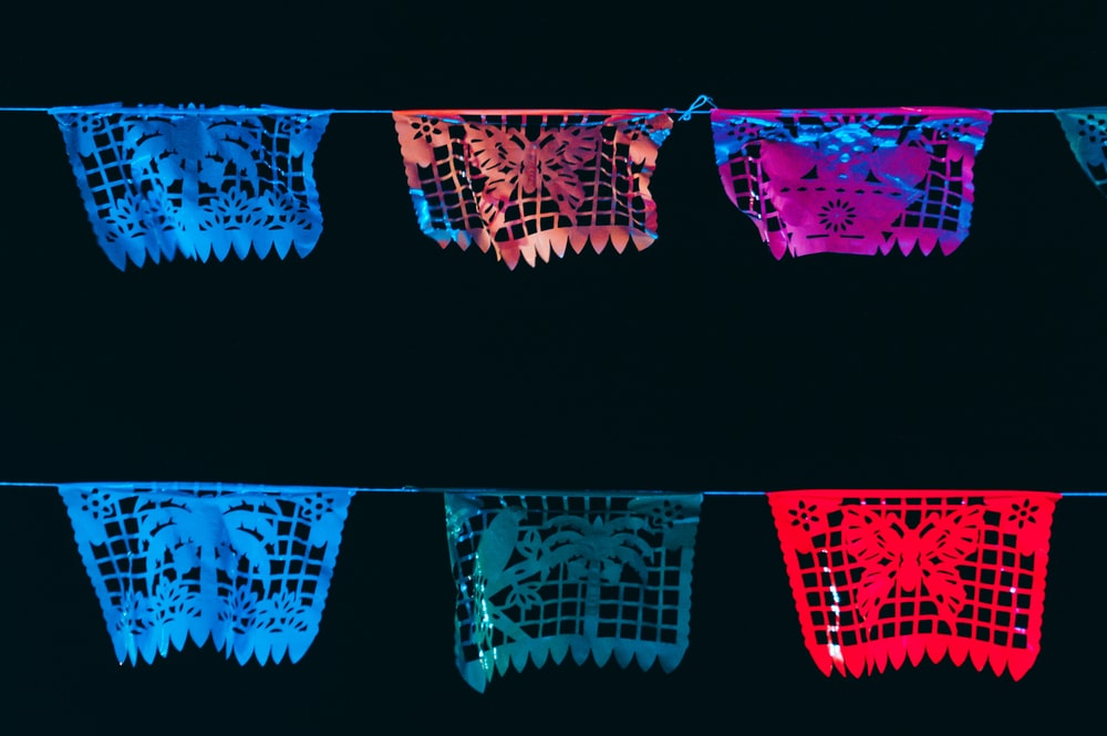 multicolored buntings