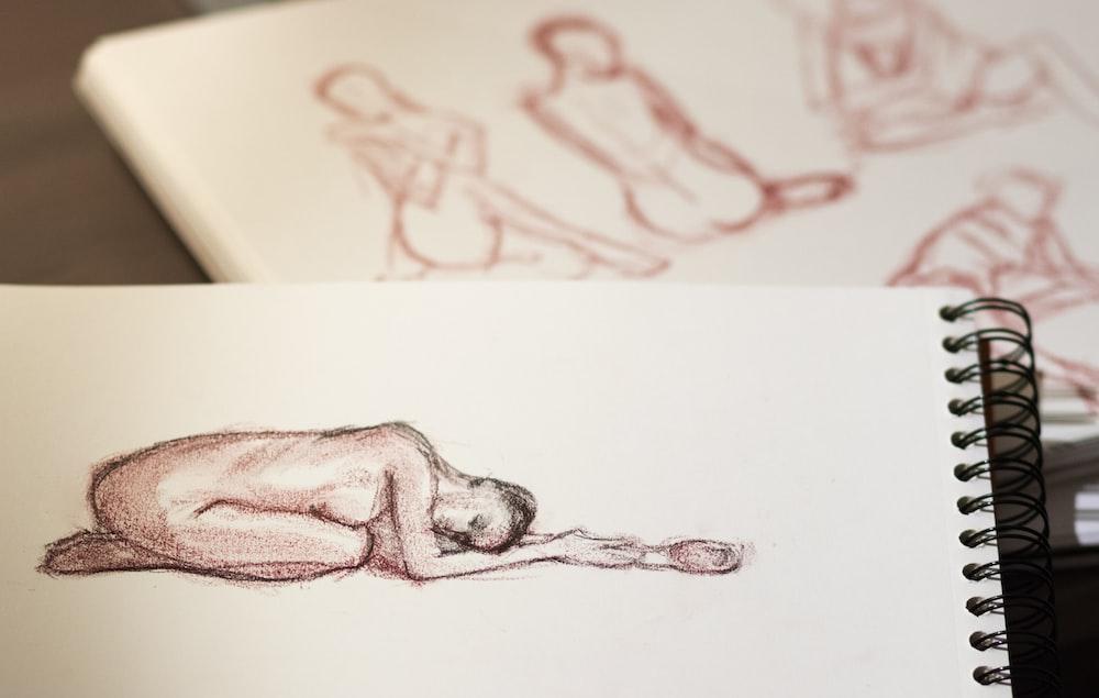 nude woman sketch drawing