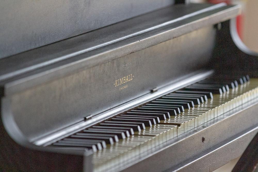 black spinet piano