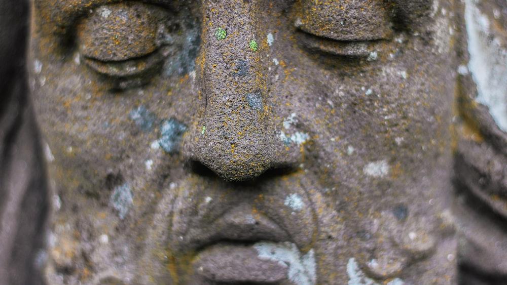 man's face statue