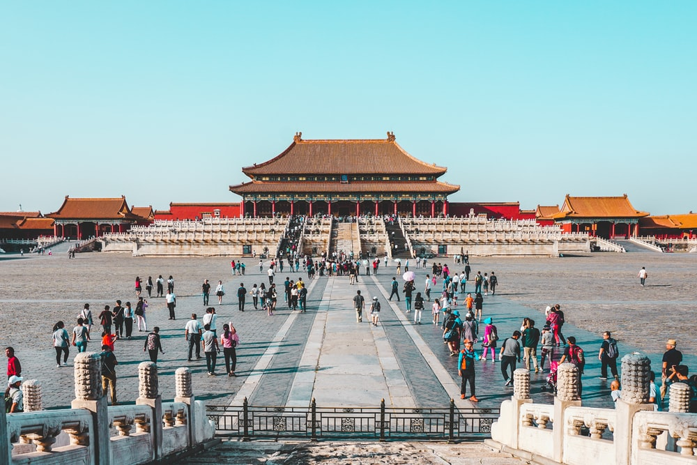 people at Forbidden City in China during daytime