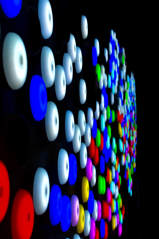 multicolored wall decors