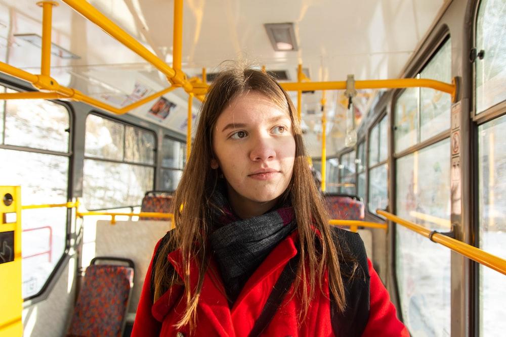 girl sitting on passengers seat