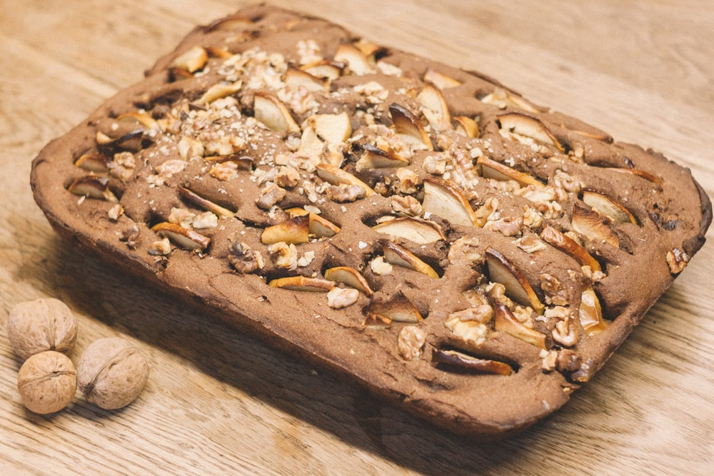 pastry with pecan seed toppings