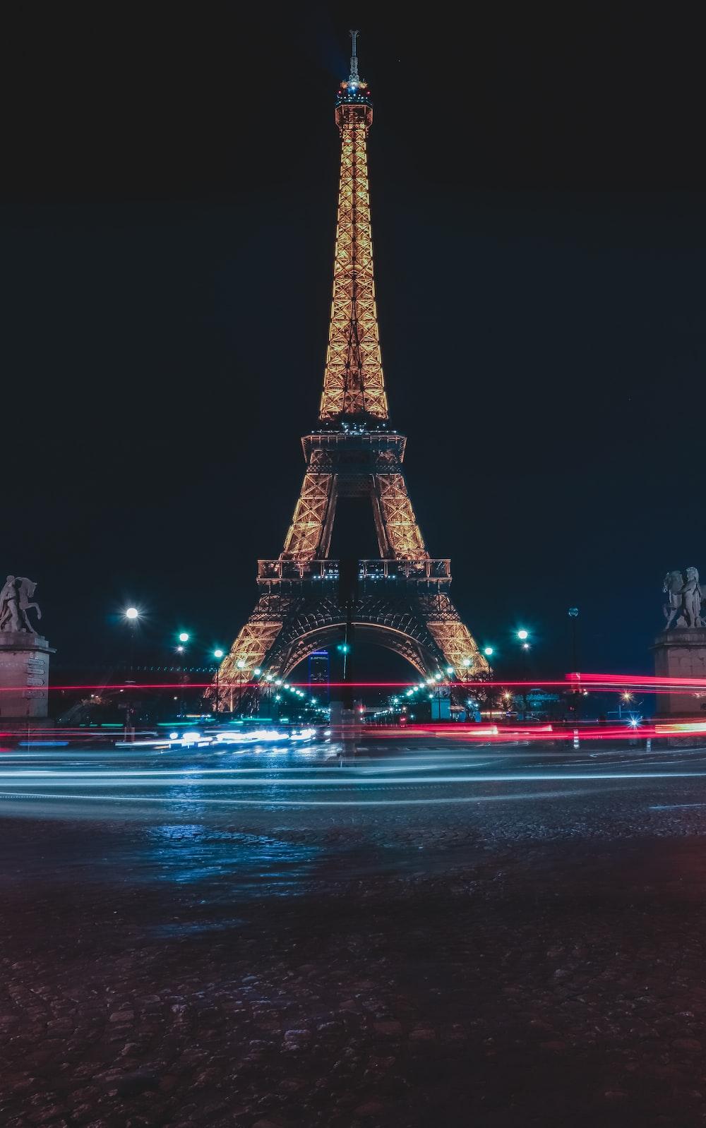 Eiffel Tower, Paris during nighttime