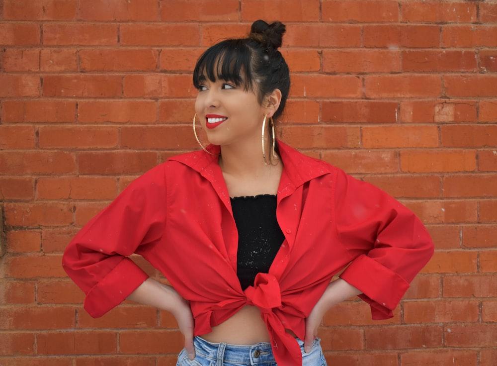 red ladies jacket