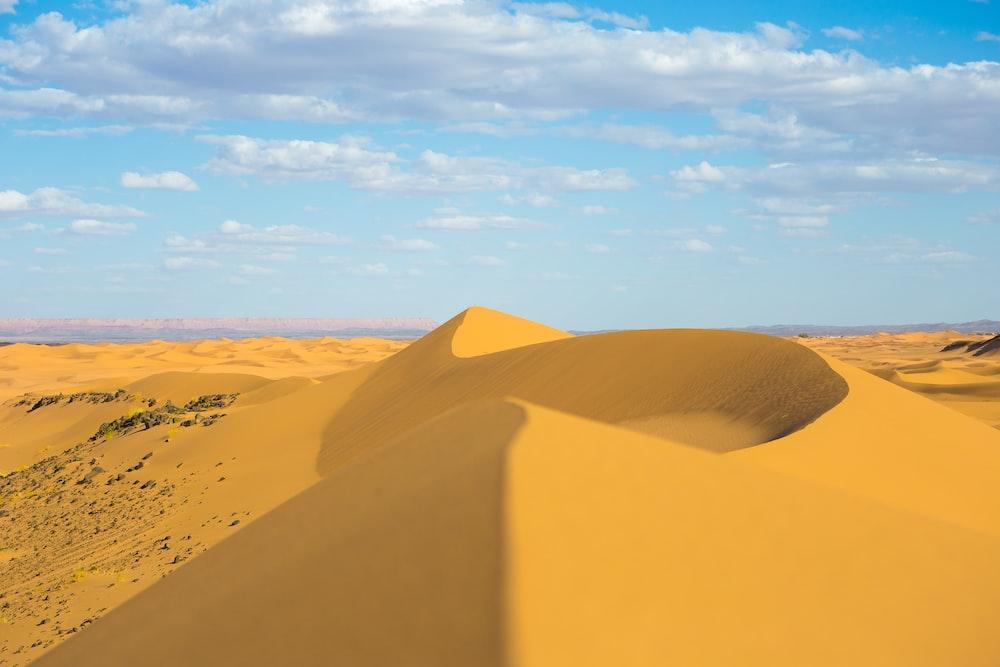 desert sand under shirt and blue sky