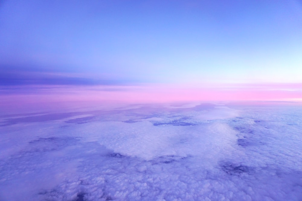 aerial photography of sea and mountain in nature photography