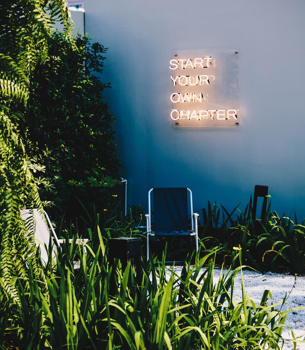 start your own chapter neon signage