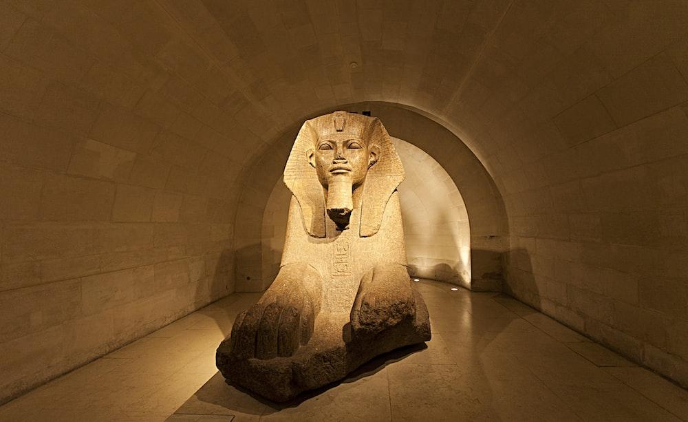 brown Pharaoh statue