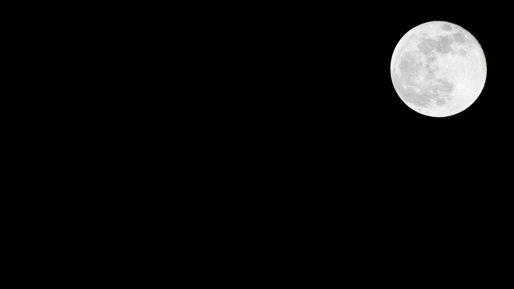 white full moon