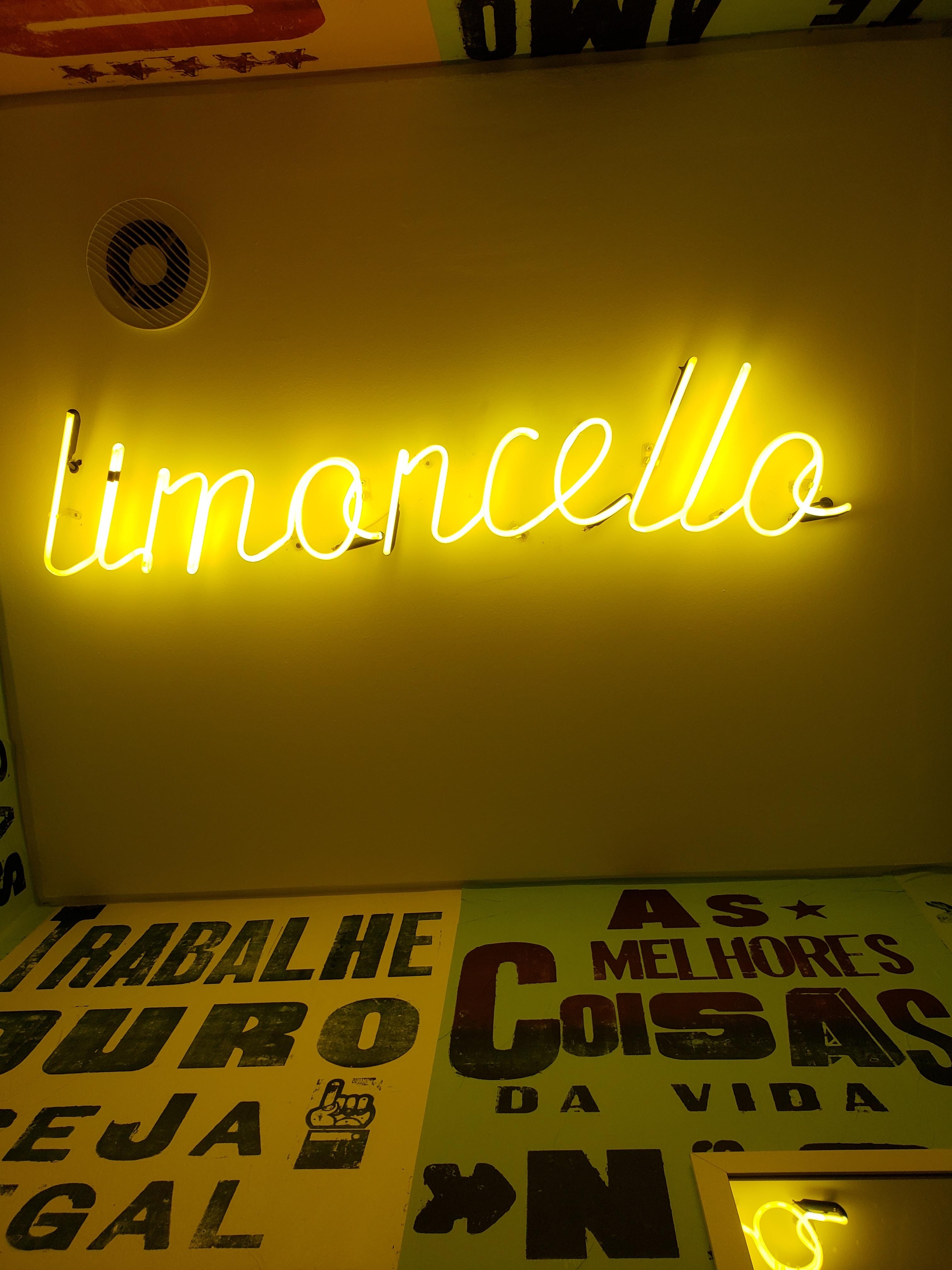 Limoncello neon light signage